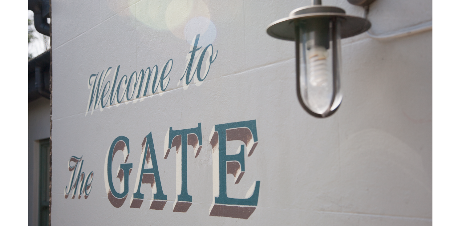 gate welcome sign